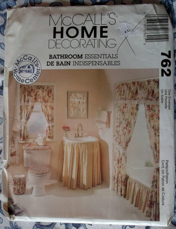 Bathroom Essentials McCalls 762 Pattern, Uncut