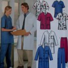 Easy Unisex Uniform Scrubs: Jacket Top & Pants, Simplicity 9334 Sewing Pattern Size XS - MD, Uncut