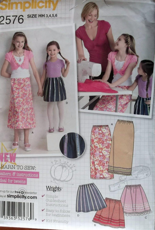Girls Dress and Purse Simplicity 9497 Pattern, Size 3 4 5 6, Uncut