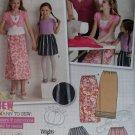 Girls Dress and Purse Simplicity 9497 Pattern, Size 7 to 14, Uncut