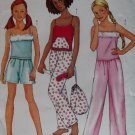 Butterick 6897 Girls Sleepwear Top, Shorts, Pants, Bag & Mask Pattern Sz 12 14 16 Uncut
