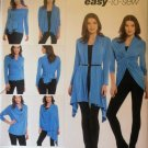 Misses' Wrap, Twist & Tie Knit Cardigan Simplicity 1065 Pattern, Size XS, to XL, UNCUT
