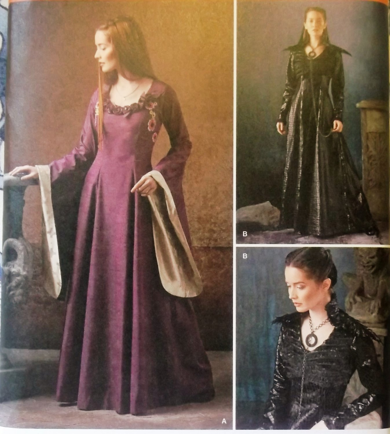 Misses' Medieval fantasy Costumes Simplicity 1137 Pattern, Size 14 to 22, UNCUT