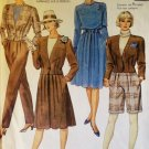 McCalls 3824 Misses' Unlined Jacket, Top, Skirt, Pants & Shorts Pattern, Sz 10, Uncut