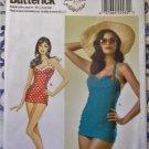 Retro Misses' Swimsuit Butterick B 6067 Pattern,  Sz 6 to 14, UNCUT