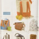 Simplicity 9658 Crafts Utility Bags Sewing Pattern, Uncut