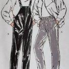 Vintage Mens Rain & Ski Pants Kwik Sew 2020 Pattern,  S, M, L, XL, Uncut