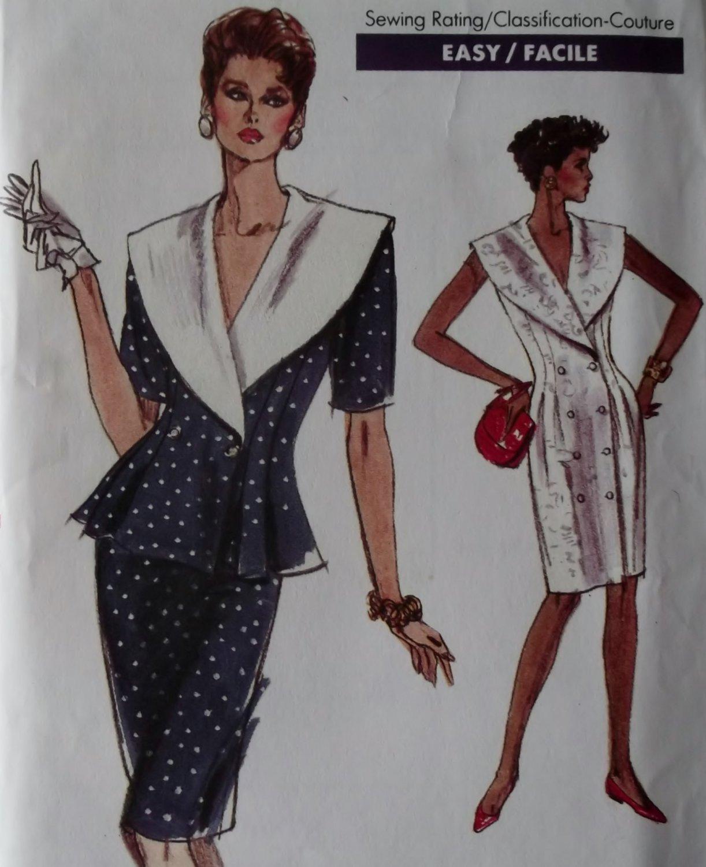 Vintage Misses' Dress, Top & Skirt Vogue 7236 Pattern, Size 14, Bust 36, Uncut