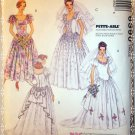 OOP McCall's Pattern 6390 Bridal Gown, & Bridesmaid's Dresses, Sz 8 10 12, Uncut
