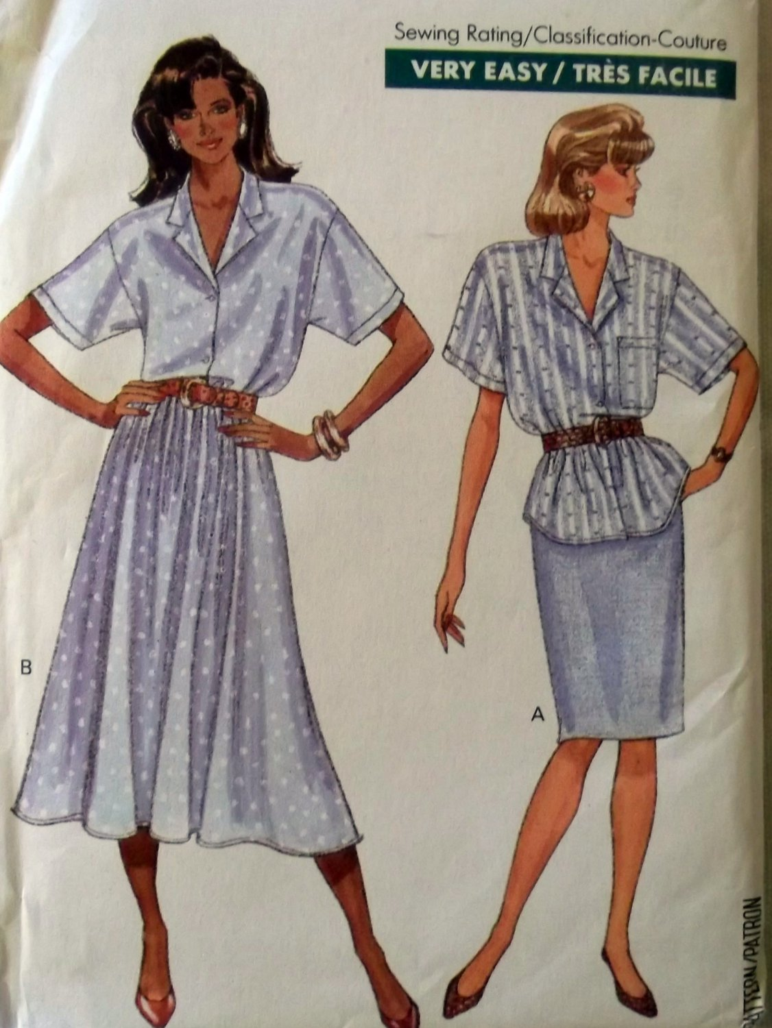 Fast & Easy Butterick 6101 Top & Skirt Sewing Pattern, Size P-S-M, Uncut