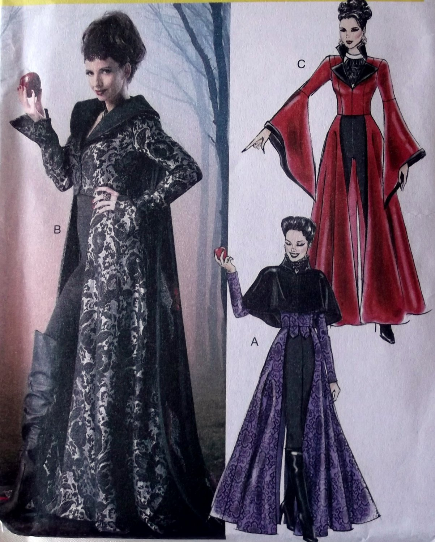 Misses Evil Queen Costume McCalls M6818 Pattern, Size 12 To 20, Uncut