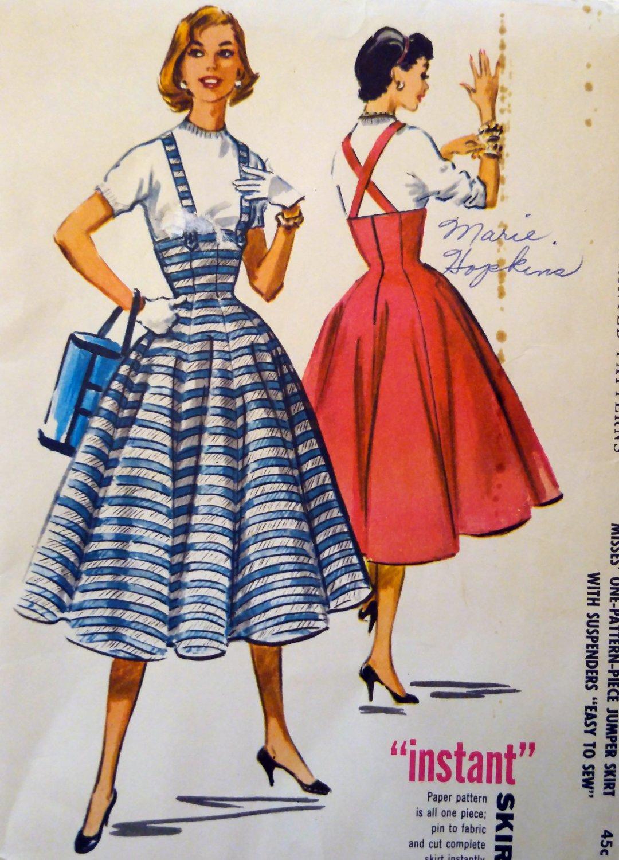 1956 McCalls 3590 Pattern, Misses  Gore Skirt, Sz 26 waist, UNCUT