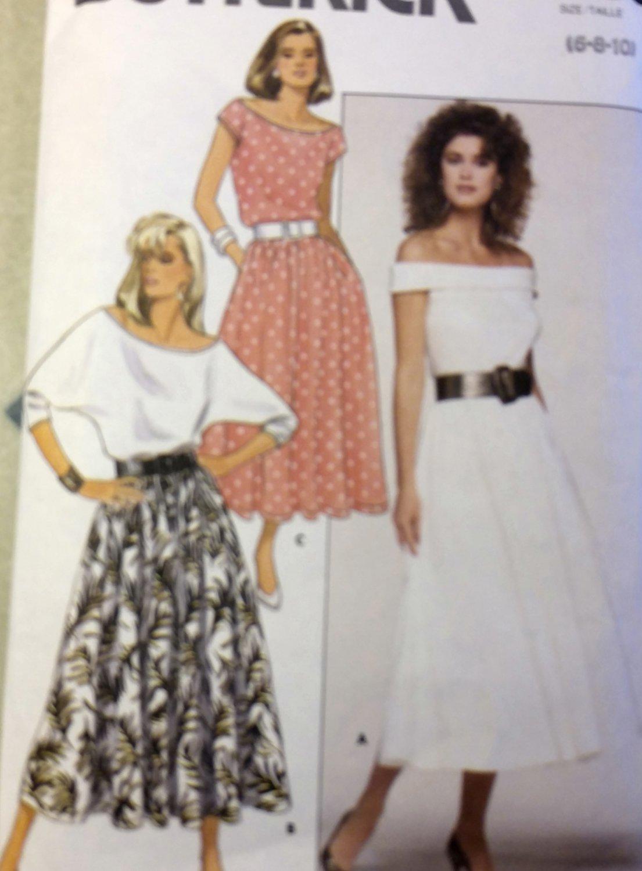 Misses'  Top Skirt Butterick 5660 Pattern, Size 6 8 10, Uncut