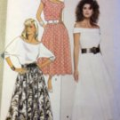 Misses'  Top Skirt Butterick 5660 Pattern, Size 6 8 10, Uncut