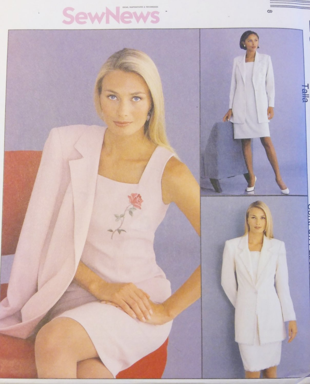 Misses Dress and Lined Jacket McCalls 2618 Pattern, Size 12 14 16, Uncut