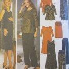 Misses Maternity Tent Dress or Tunic, Skirt, Pants & Shawl  Simplicity 9516 Pattern, Sz 6-12 Uncut