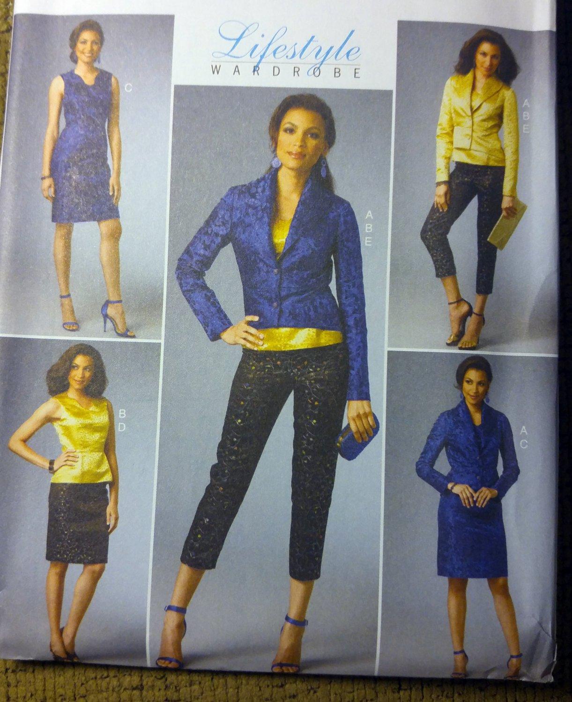 Misses' Jacket, Top, Dress, Skirt & Pants Butterick B5995 Pattern,  Sz 14 - 22, UNCUT