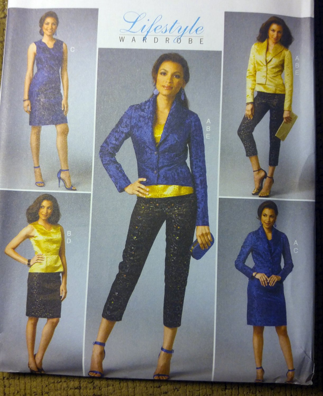 Misses' Jacket, Top, Dress, Skirt & Pants Butterick B5995 Pattern,  Sz 8 - 14, UNCUT