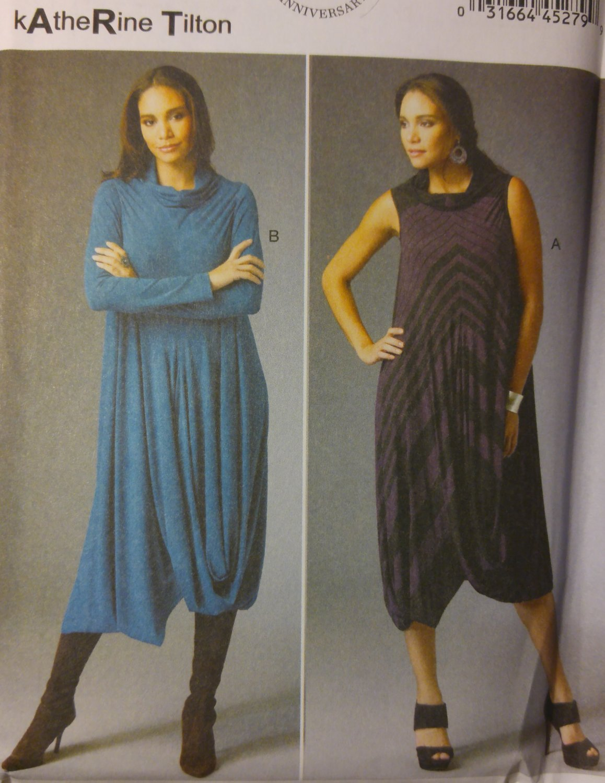 Misses Katherine Tilton Dress Butterick B5986 Pattern, Sizes 8 - 16 UNCUT