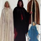 McCalls M5957, Unisex Hooded Cape Costume Pattern, XS S M L, Uncut