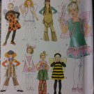 OOP Simplicity 3654 bee angel clown plus Costume Size 3 to 8 Child, UNCUT