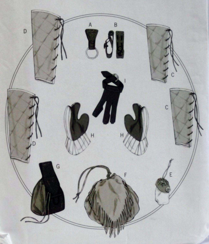 Butterick B5733 Making History Gloves plus  Pattern, Size one size  uncut