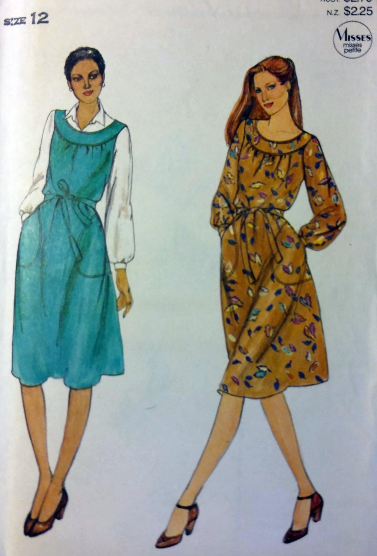 Easy Vintage Butterick 3964 Misses Jumper or  Dress Pattern, Size 12, UNCUT