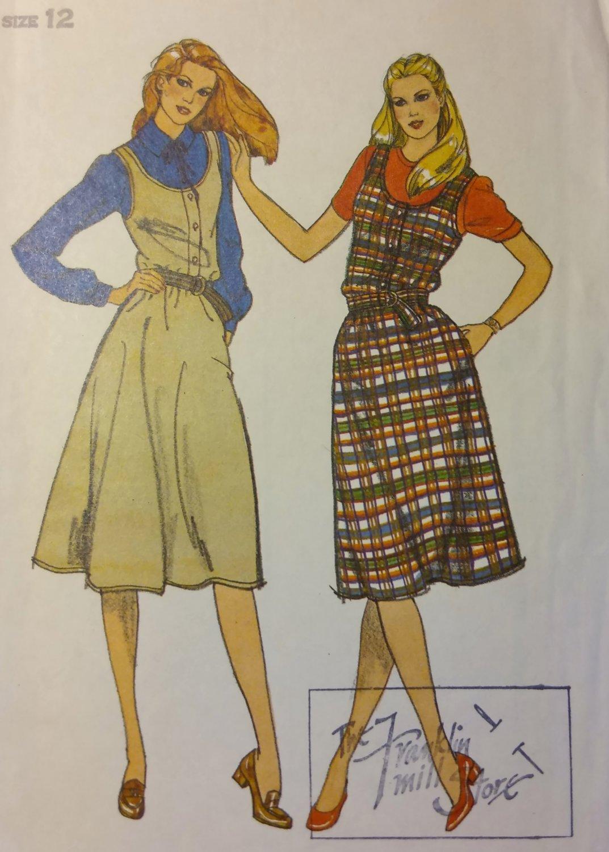 Vintage Butterick 3386 Misses Jumper  Pattern, Size 12, UNCUT