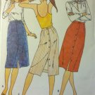Vintage Butterick 6548 Misses Front Button Skirt  Pattern, Size 14, UNCUT