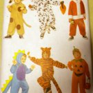 Butterick 6695 Toddler Child  Santa Dog Dino Costumes  Pattern, Sz  1-2 to 5-6,  UNCUT