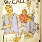 MCCalls 6460 Men's Casual Shirt & Vest Pattern, Sz 15, Chest 40, Uncut