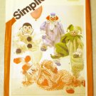 Vintage Simplicity 5259 Decorative Clown Dolls Crafts Pattern, UNCUT