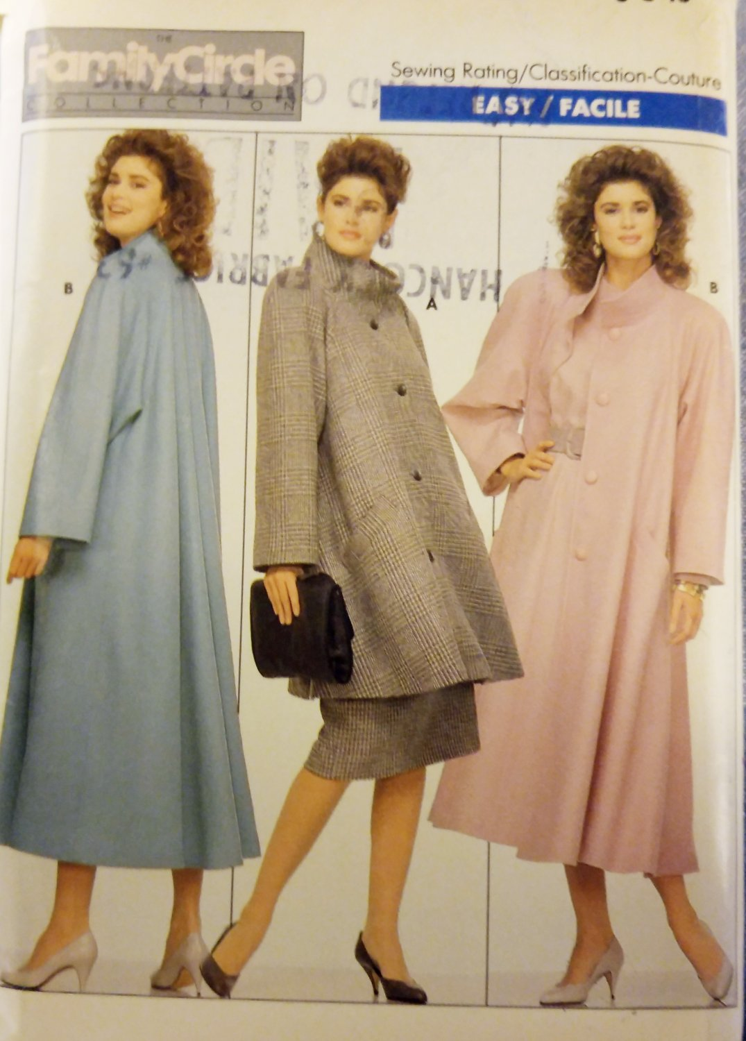 Butterick 5760 sewing pattern loose-fitting, lined Misses' coat, Size 6 8 10, Uncut