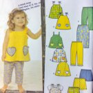 Easy Toddlers Tops Cropped Pants Shorts  Simplicity 9786 Pattern Sz-1/2-1-2-4 uncut