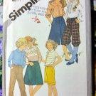 Girls Pants Knickers Bermudas Culottes * Uncut Simplicity 5314 pattern Size 10
