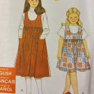 Easy Girls Jumper Simplicity 9726 Pattern, Size 3 to 8, Uncut