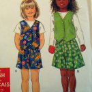 Girls Vest and Shorts   Simplicity 7696 Pattern, Size 3 to 8, Uncut
