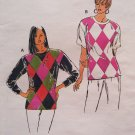 OOP Kwik Sew 2186 Pattern, Misses tops Color Block, Sz xS to xL Uncut