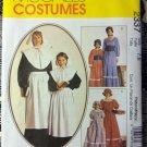 McMaCalls 2337 Colonial Prairie Pilgrim Pioneer Quaker Costume Pattern, Sz 7. 8, Uncut