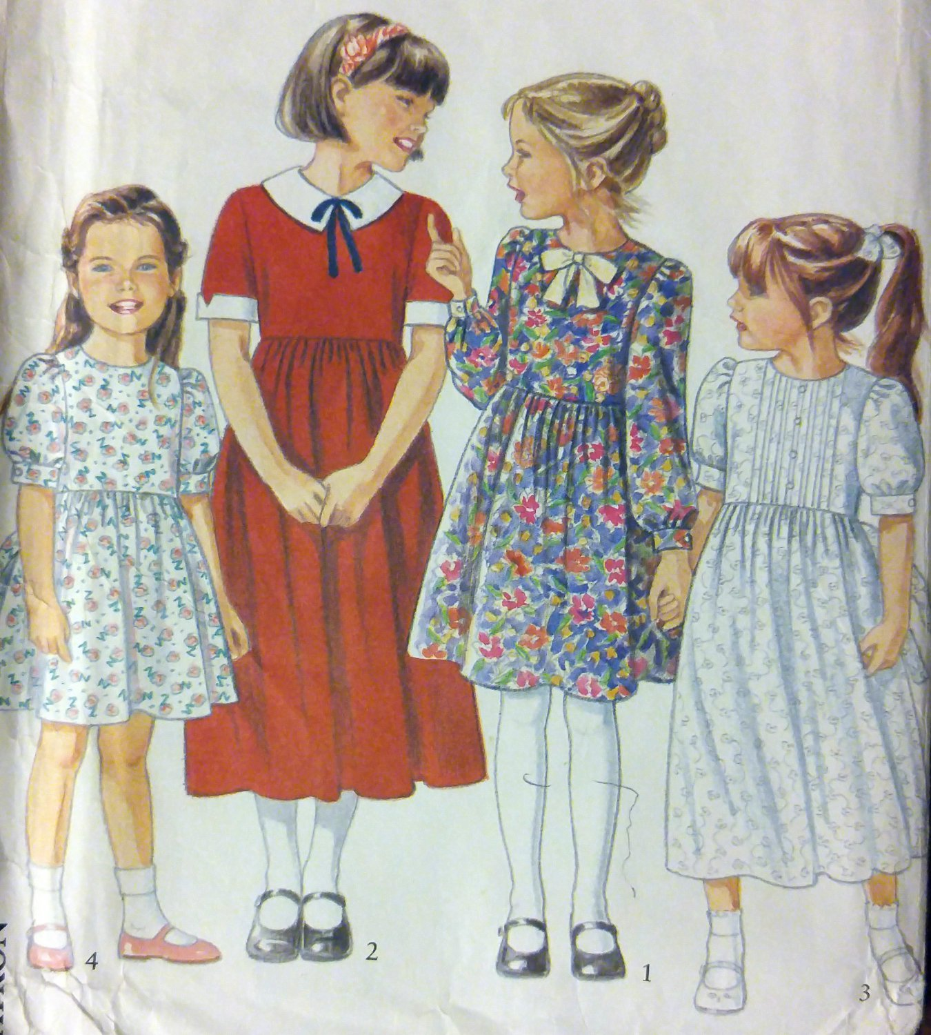 Child's Dress New Look 6232 Pattern, Size 3 to 8, Uncut