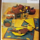 Fall Table Top Centerpieces Runner Placemats Napkins Butterick 3985 Uncut, UNCUT