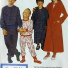 McCalls 2999, Boys', Girls' Robe, Belt, Pajamas, Hat & Booties Pattern, Size 7 8 10, Uncut FF