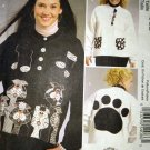 McCalls M5726 Appliques  for sweatshirts. Pattern, UNCUT