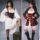 Misses  Wench  Pirate Costume Butterick B6114 Pattern, Size 14 To 22, Uncut