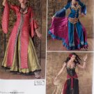 Misses Indian Ballywood Costume Simplicity 2159 Pattern, Size 14 To 22, Uncut