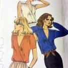 Vintage 6887 Butterick Pattern V neck loose fit Top  Size 10 Uncut