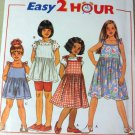 Simplicity 9551 Girls Dress Top Romper Pattern, Size 3 4 5 6, Uncut