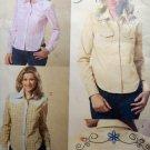 OOP Fast & Easy Butterick B4807 Pattern Misses or Petite Western Shirt Sz 8 10 12 14 UNCUT