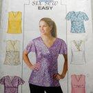 OOP Fast & Easy Butterick B4191 Pattern Misses or Petite Top Sz 2, 14, 16 UNCUT