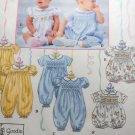 Romper Smocking Transfer. Simplicity 8951 Sewing Pattern Size  NB to 18 m, UNCUT